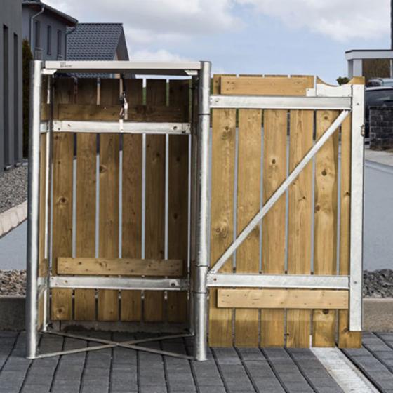 Mülltonnenbox 140l Holz, 1er Box, Natur | #5
