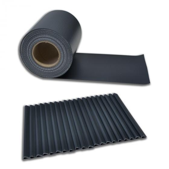 PVC Sichtschutz Zaunfolie dunkelgrau | #5