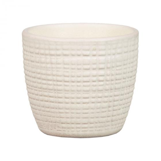 3er-Set Keramik-Übertöpfe 6cm, Vanille | #5