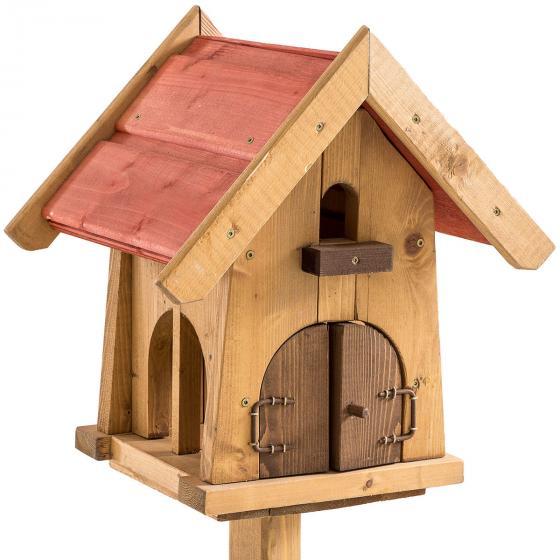 Vogelfutterhaus Max, mit Ständer, Holz | #5