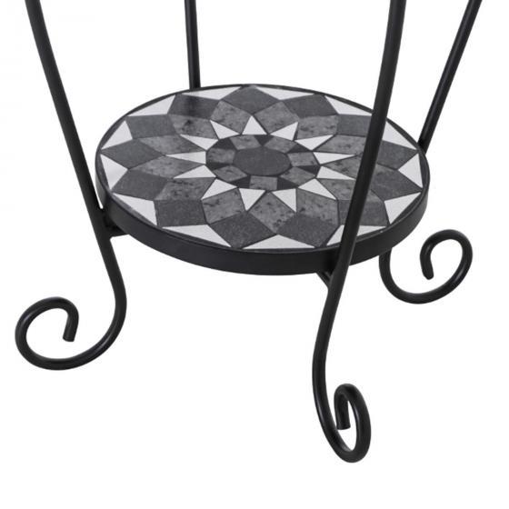 Beistelltisch Mosaik, Stahlgestell mit Keramikflächen, ca. 41 x 41 x 59 cm | #5