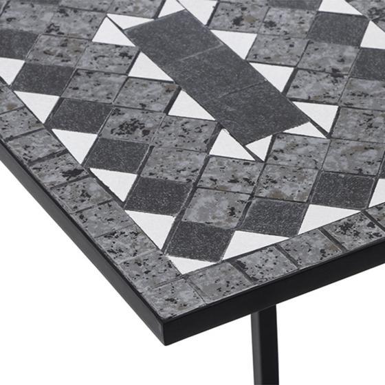 Bestelltisch Mosaik, Stahlgestell mit Keramikflächen, 2er-Set | #5