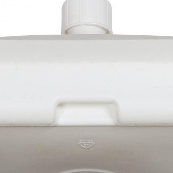 Schirmständer für Schirmstöcke 35-55 mm, 50l, mit Rolle, befüllbar, Weiß | #5