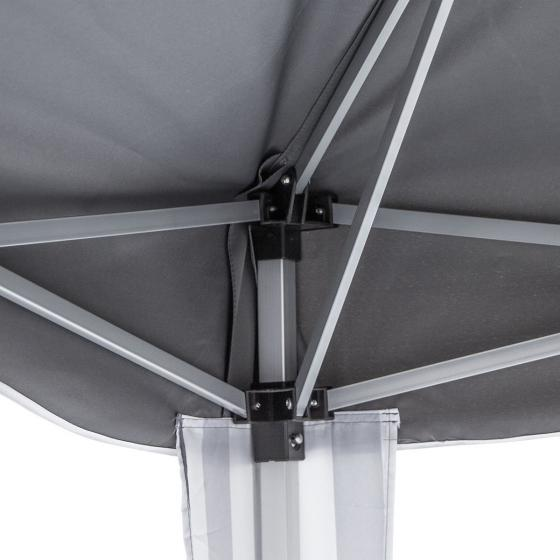 Faltpavillon Classic, 300x300 cm, grau/weiß | #5
