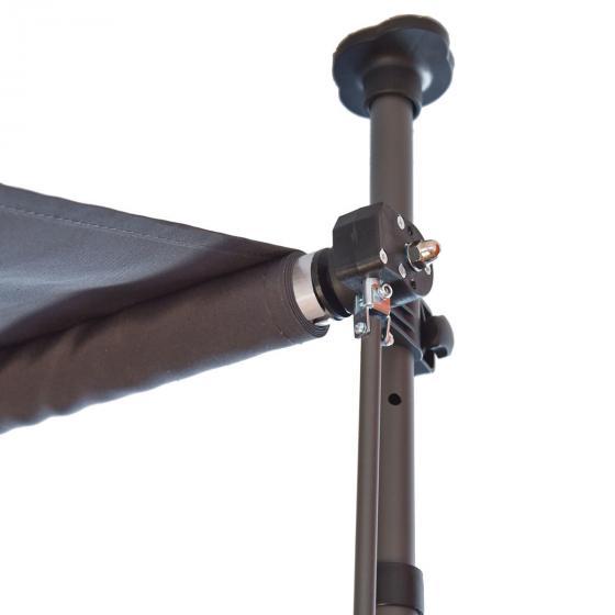 Klemmmarkise 300x300 cm, schwarz | #5