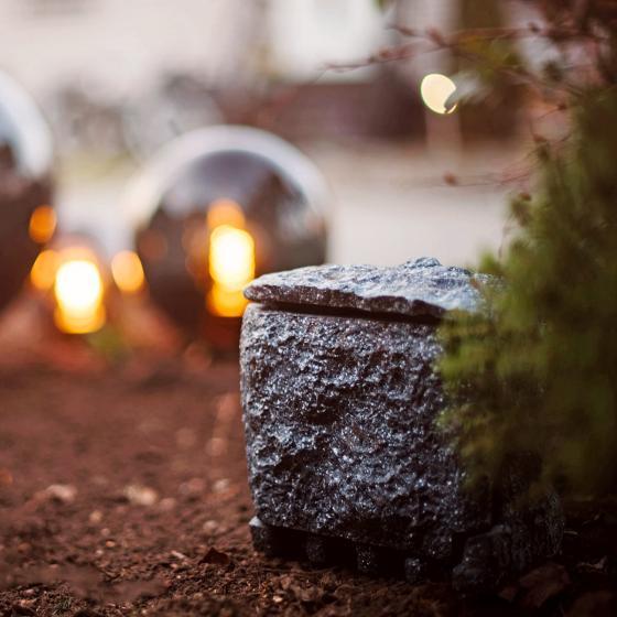 Gartensteckdose Steinoptik mit 4 Steckdosen | #5