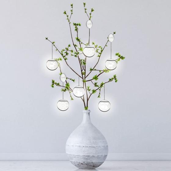 Deko-Lights Tannenbaum, silber, Ø 10 cm | #5