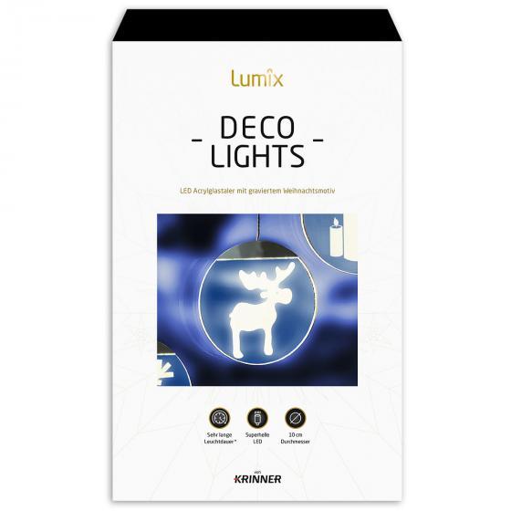 Deko-Lights Elch, silber, Ø 10 cm | #5