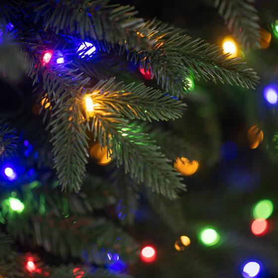 Künstlicher Weihnachtsbaum Fichte, mit LED-Beleuchtung, 150 cm | #5