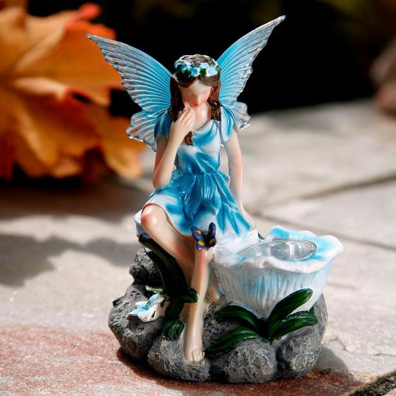 Gartenfiguren Elfen, 3er-Set mit Solar-LED-Lampen | #5