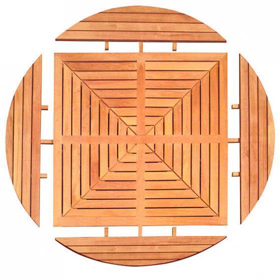 TEAK-Drei-in-Eins-Tisch (rund, oval & quadratisch) | #5
