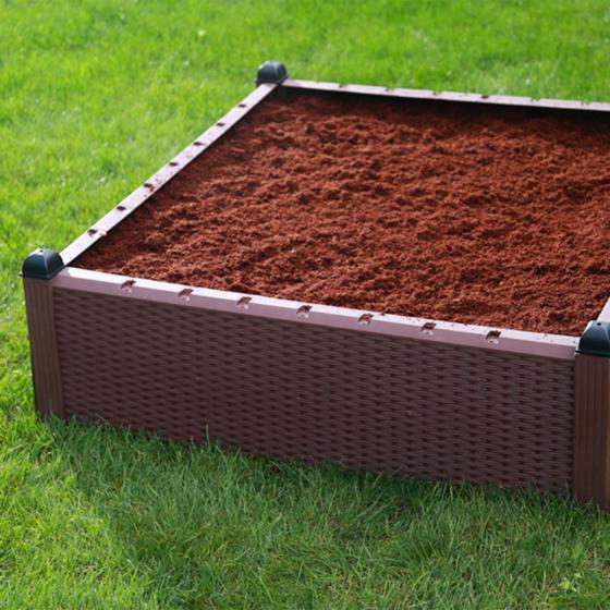 Gartenhochbeet, Kunststoff, braun, 99,5x99,5x30 cm | #5