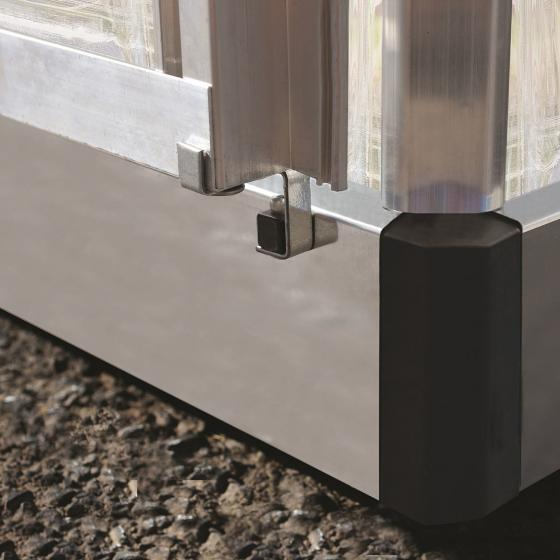 Palram Gewächshaus Silver Line 6 x 4 inkl. Stahlfundament, 125 x 185 x 209 cm, Aluminium, silber | #5