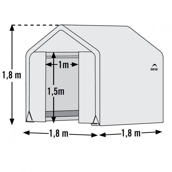 ShelterLogic Folien-Gewächshaus 3,24m² inkl. Sturmanker | #6
