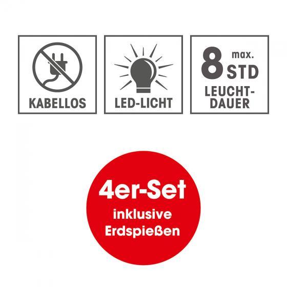 Solar-Edelstahlstrahler 4er Set | #6