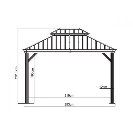 Pavillon Messina 10x12, 298x363x292 cm | #6
