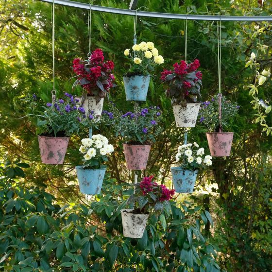 Hängende Pflanztöpfe Swing pink, 3er-Set   #6