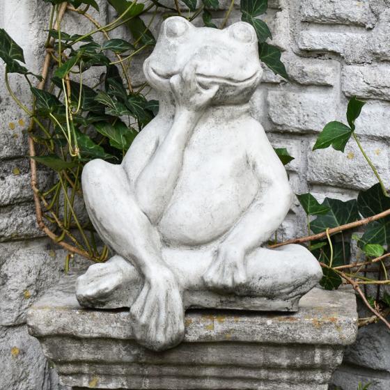 Gartenfigur Mauerhocker Frosch | #6