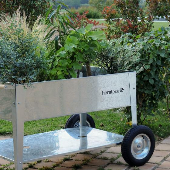 Hochbeet Garden Swivel, silber, 120x60x80 cm | #6