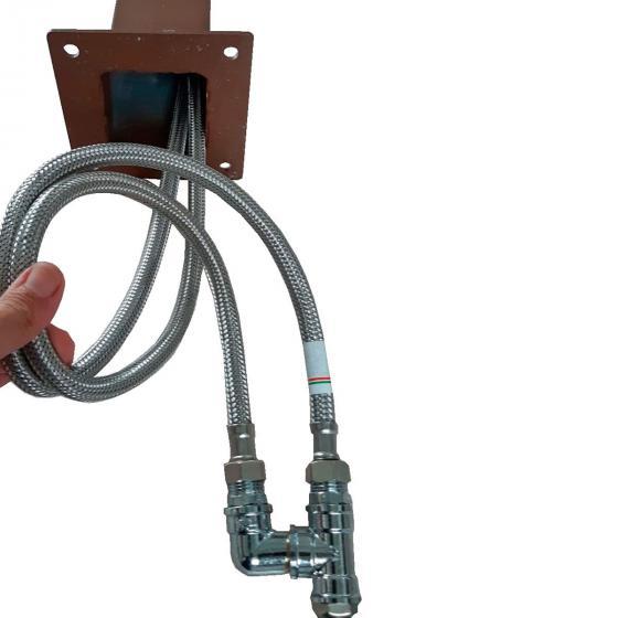 Überirdischer Flexischlauch für Wassersäule Tondo, Quadra und Silverline, 47x7x2,5 cm, Stahl | #6