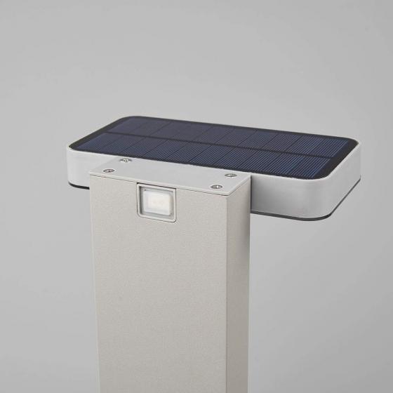 LED-Sockelleuchte Maik mit Bewegungsmelder, 60x18x13 cm, Kunststoff,  grau | #6