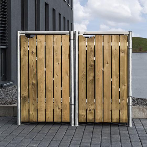 Mülltonnenbox 140l Holz, 2er Box, Natur | #6