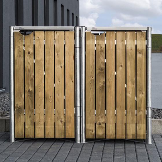 Mülltonnenbox 240l Holz, 2er Box, Natur | #6