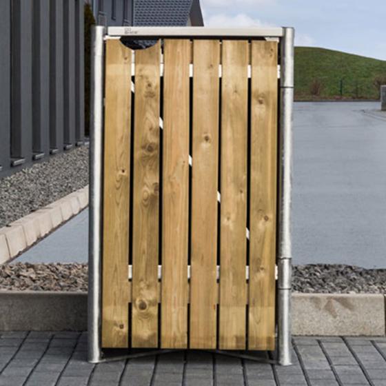 Mülltonnenbox 140l Holz, 1er Box, Natur | #6
