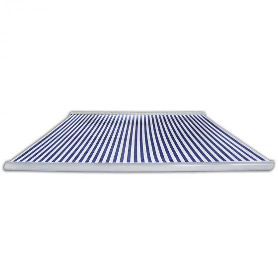 Vollelektrische Kassettenmarkise Elos V2 marineblau-weiß 500 x 300 cm inkl. Windsensor | #6