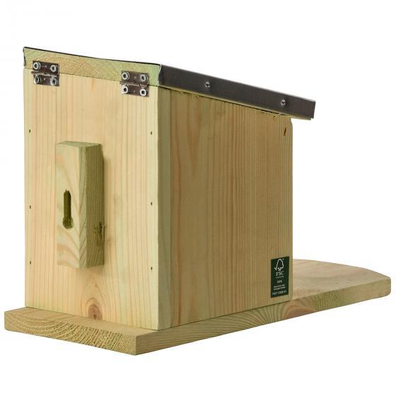 Eichhörnchen Futterhaus, mit Zinkdach und Plexiglasscheibe | #6