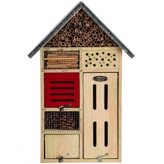 Insektenhotel Nature mit Zinkdach, ca. 48x 31 cm | #6
