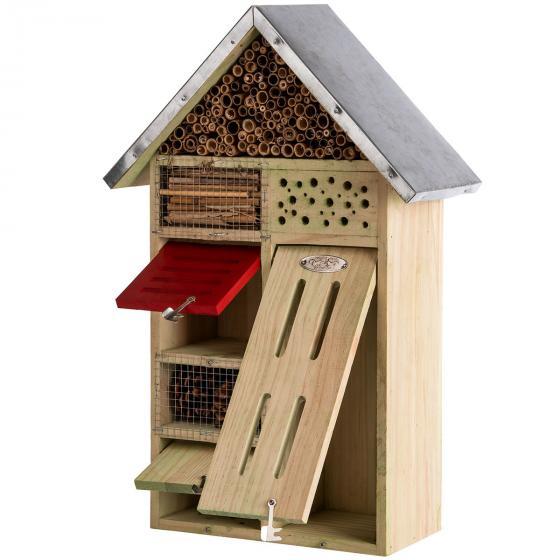 Insektenhotel Nature mit Zinkdach, ca. 48x 31 cm   #6