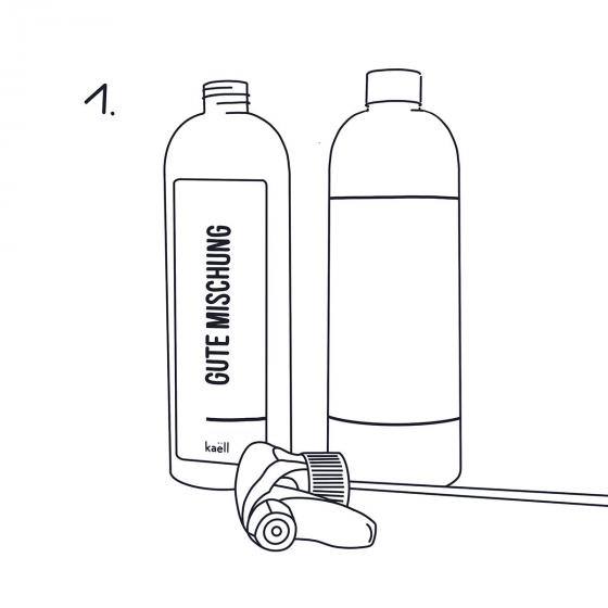 Mischflasche Gute Mischung Garten für Konzentrate, mit Sprühkopf, 750 ml | #6