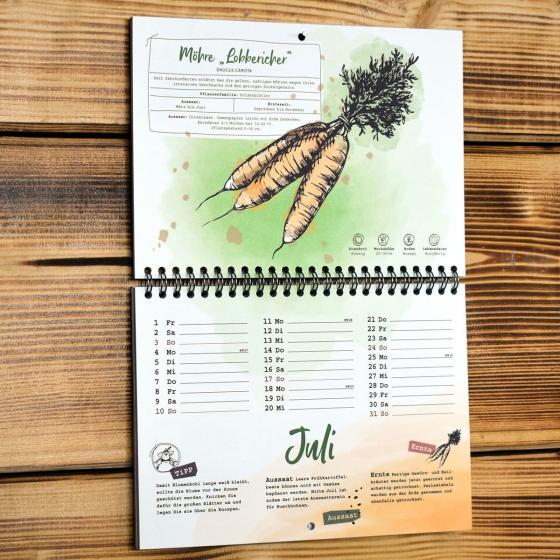 Einpflanzbarer Kalender - Historisches Saatgut | #6