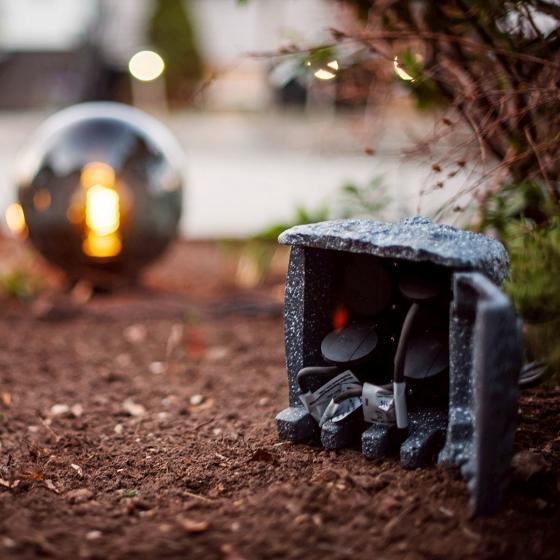 Gartensteckdose Steinoptik mit 4 Steckdosen | #6
