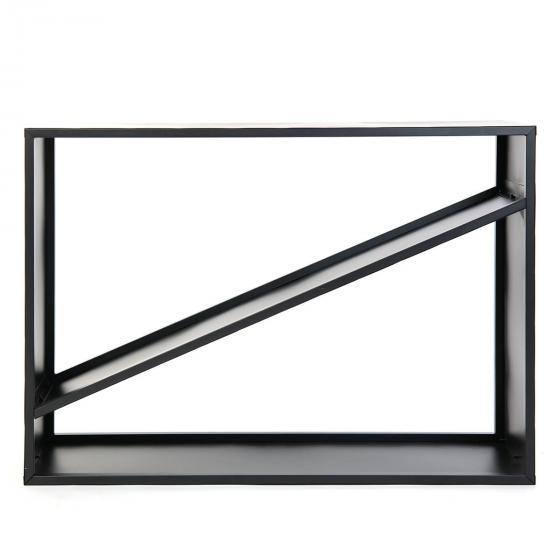 Kaminholzregal 115x35x80 cm, schwarz | #6