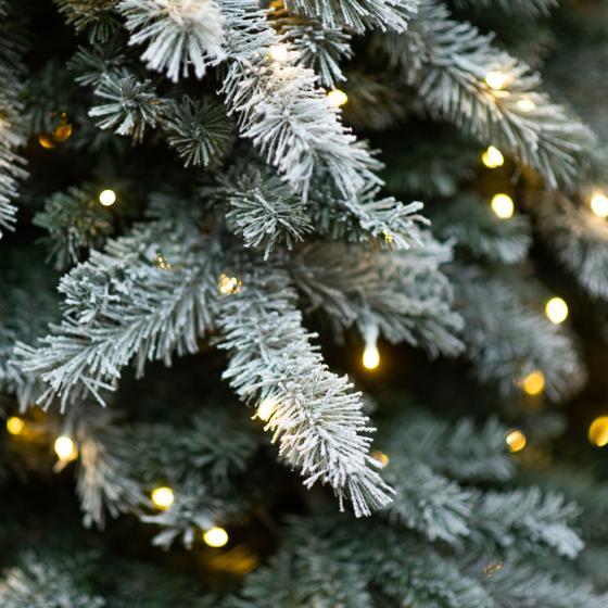 Künstlicher Weihnachtsbaum Fichte, Schneeoptik, mit LED-Beleuchtung, 210 cm   #6
