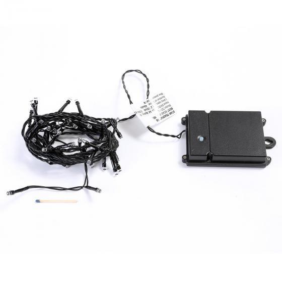 Star Batterie-LED-Lichterkette 40 LEDs, 320 cm, schwarz | #6