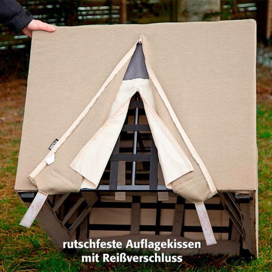 Outdoor Sessel Daisy ohne Armlehnen braun | #6