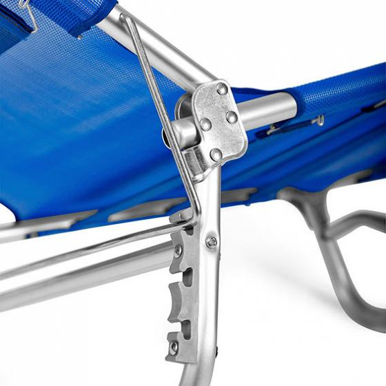 Tragbare Aluminium-Sonnenliege Rimini, blau | #6