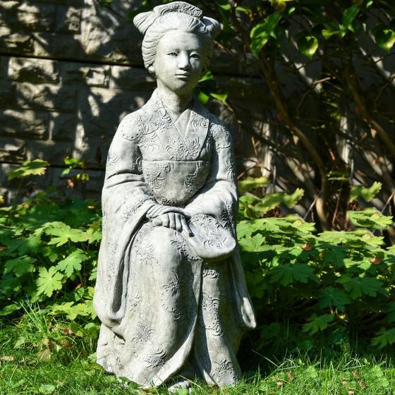 Garten-Steinfigur Geisha | #6