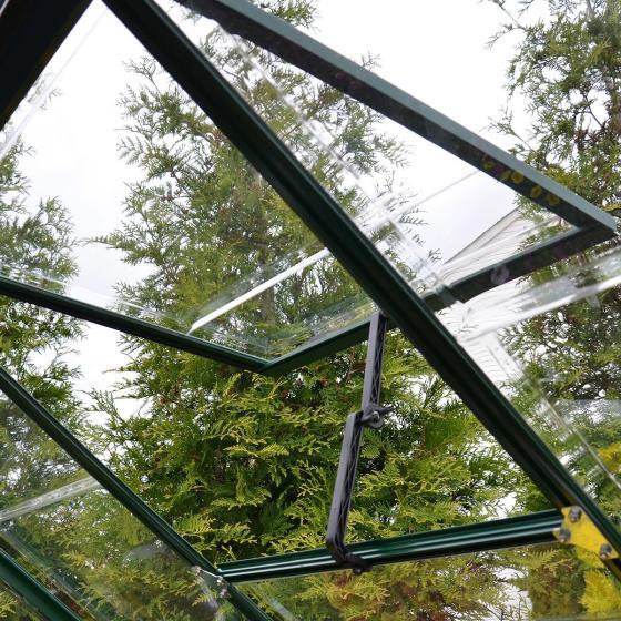 Gewächshaus Green Line 6 x 12 inkl. Stahlfundament, 370 x 185 x 209 cm, Alumium, grün | #6
