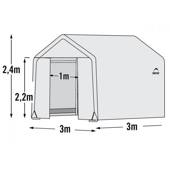 ShelterLogic Folien-Gewächshaus 9m² inkl. Sturmanker | #7