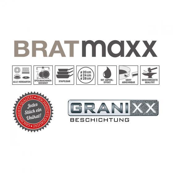 BRATmaxx Pfannenset 3-tlg, Granit & Holzoptik | #7