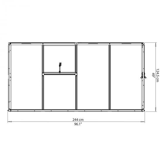 Palram Anlehngewächshaus Interline 8x4' | #7