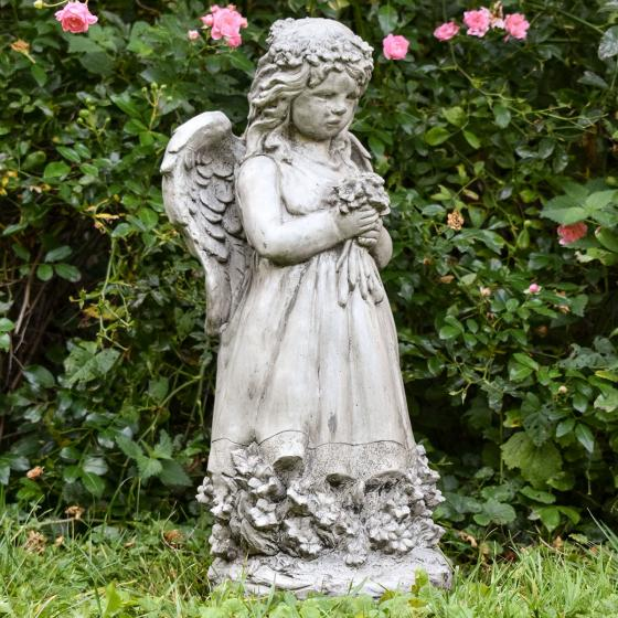 Gartenfigur Blumenengel Fiona | #7