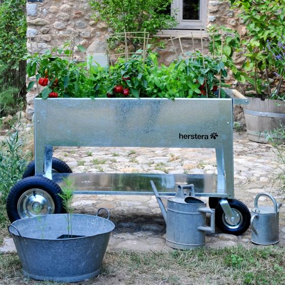 Hochbeet Garden Swivel, silber, 120x60x80 cm | #7