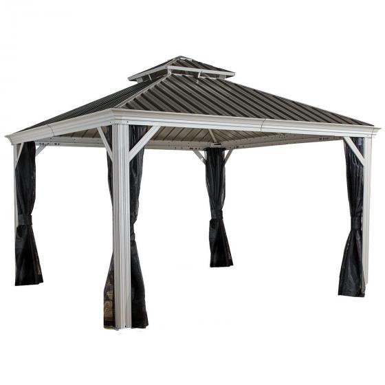 Sojag Aliminium Pavillon Messina 12x16, 363x483x307 cm, champagner | #7