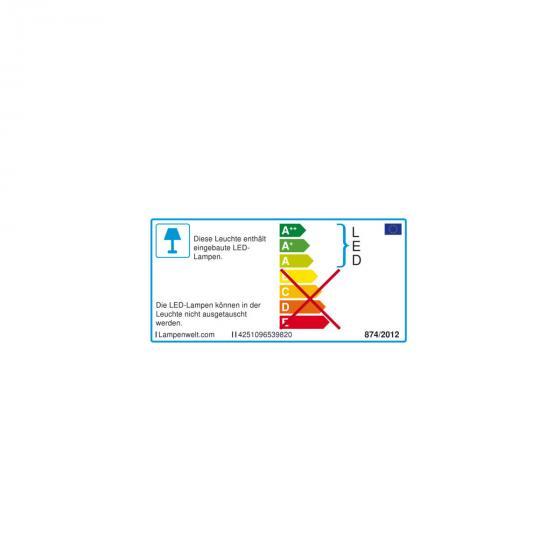 Solar-LED-Wandlampe Kalypso mit Bewegungsmelder, 21,3x7,6x7,6 cm, Edelstahl, silber | #7