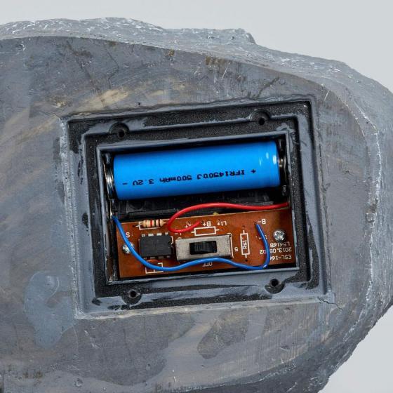 Solar-LED-Leuchtstein Lior, 16x19,5x14 cm, grau | #7